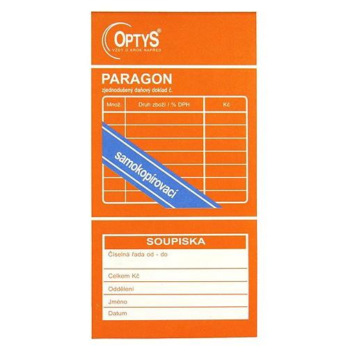 Spotřeba Paragon zjednodušený daňový doklad 77 x 149 mm