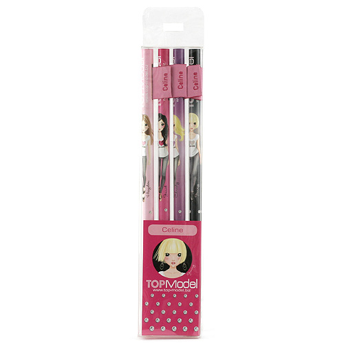 Tužky Top Model Tužky s vlaječkou Celine, Top Model