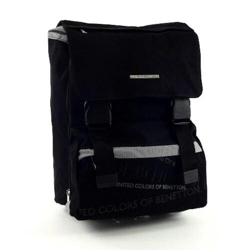 Školní batoh Benetton na přezky černá
