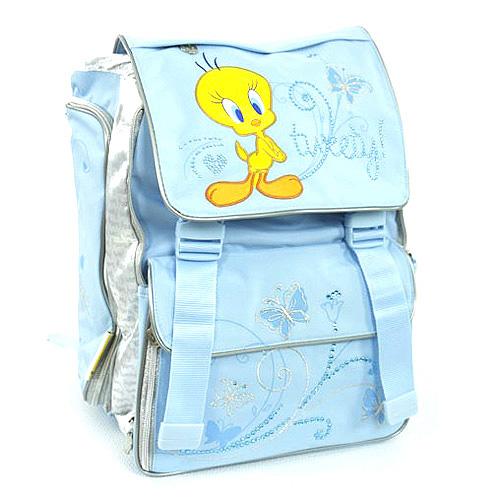 Školní batoh Tweety 2 spony modrá