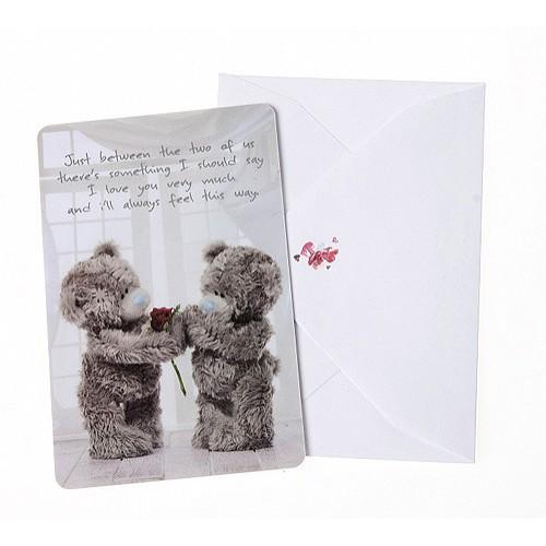 Dárková kartička s obálkou Me to You Kartička s obálkou růže