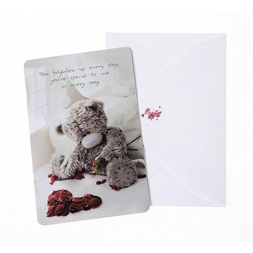 Dárková kartička s obálkou Me to You Kartička s obálkou srdce z růží