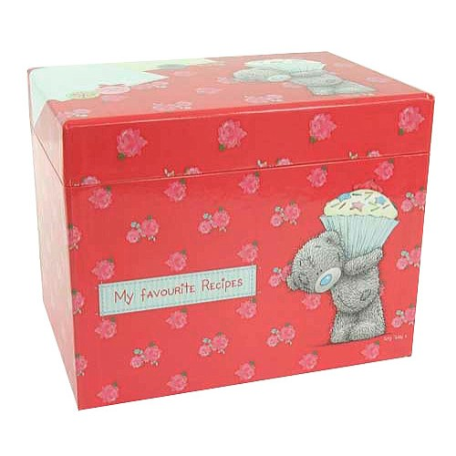 Krabička na recepty Me to You Červená, 22 x 18 x 15 cm