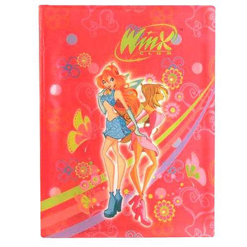 Desky A4 Winx Club Desky na dokumenty A4 20 kapes WinX Bloom&Flora tmavě růžová