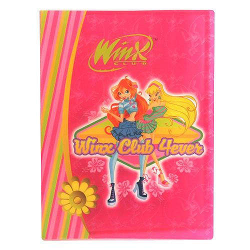 Desky A4 Winx Club Desky na dokumenty A4 10 kapes WinX 4ever Bloom&Stela růžová