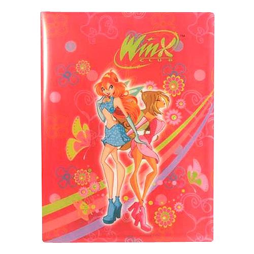 Desky A4 Winx Club Desky na dokumenty A4 10 kapes WinX Bloom&Flora tmavě růžová