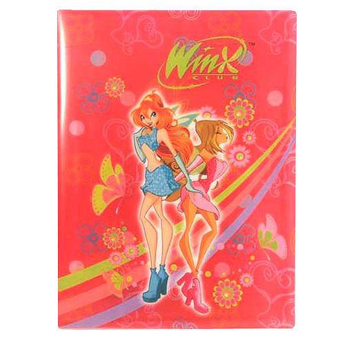 Desky A4 Winx Club Desky na dokumenty A4 30 kapes WinX Bloom&Flora tmavě růžová