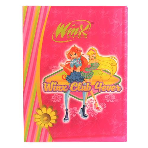 Desky A4 Winx Club Desky na dokumenty A4 40 kapes WinX 4ever Bloom&Stella růžov
