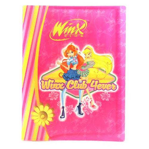 Desky A4 Winx Club Desky na dokumenty A4 20 kapes WinX 4ever Bloom&Stella růžov