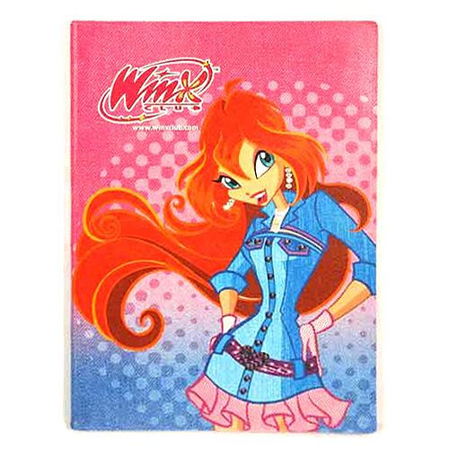 Sešit Winx Club Sešit A4 PVC 80 stránek čtverečky Bloom modré šaty