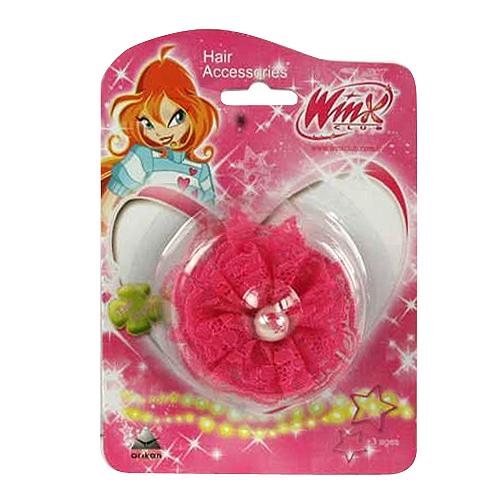 Sponka do vlasů Winx Club Sponka do vlasů s perlou WinX tmavě růžová