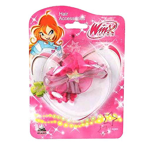Sponka do vlasů Winx Club Sponka do vlasů mašle kvítka WinX tmavě růžová
