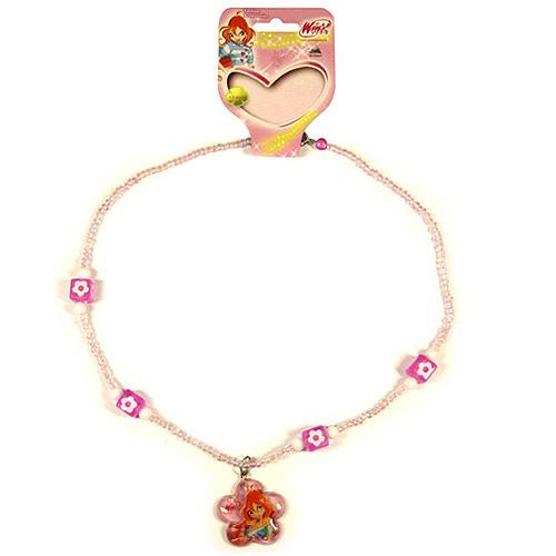 Náhrdelník Winx Club Náhrdelník 11 kytka Bloom světle růžová