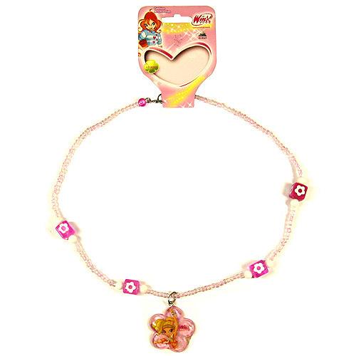 Náhrdelník Winx Club Náhrdelník 11 kytka Stella světle růžová