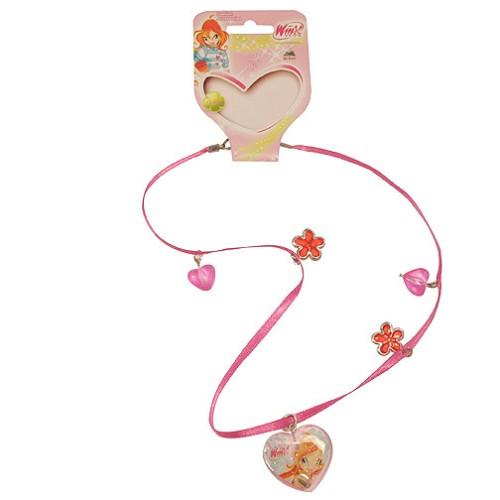 Náhrdelník Winx Club Náhrdelník 04 s přívěsky Bloom tmavě růžová