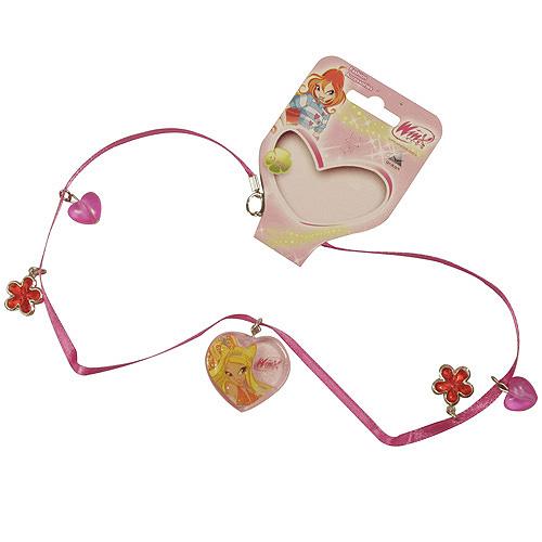 Náhrdelník Winx Club Náhrdelník 04 s přívěsky Stella tmavě růžová
