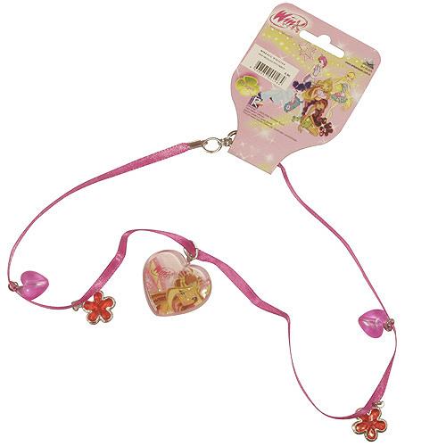 Náhrdelník Winx Club Náhrdelník 04 s přívěsky Flora tmavě růžová
