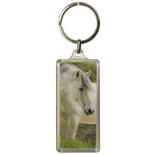 Klíčenka 3D Horses Dreams bílý kůň šedá hříva