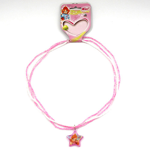 Náhrdelník Winx Club Náhrdelník 06 Bloom bílo-růžová
