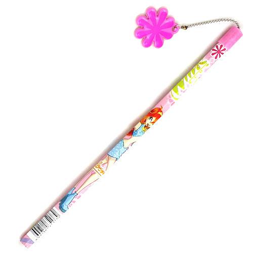 Tužka Winx Club Tužka s PVC květinou Bloom růžová