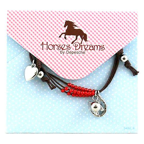 Náramek Horses Dreams hnědý, 041075