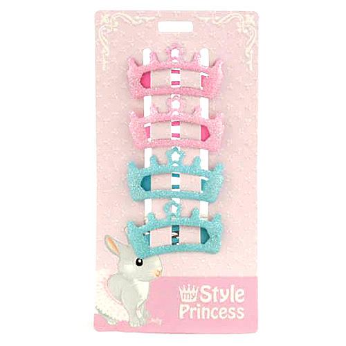 Sponky do vlasů My Style Princess Sponky do vlasů 4 ks růžovo modré