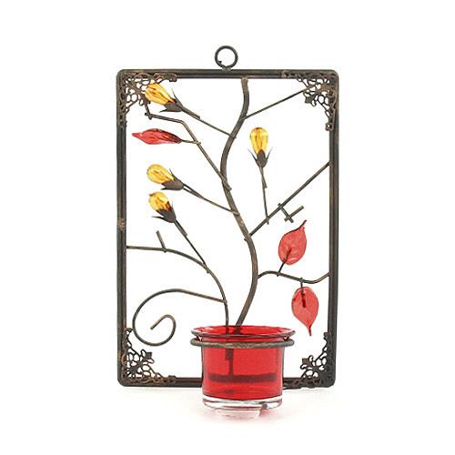 Svícen Sunchi 857-Svícen na stěnu obdelník červená