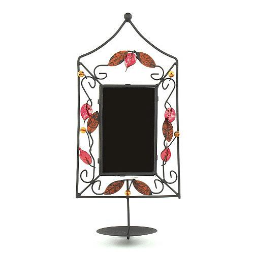 Svícen Sunchi 502-Svícen se zrcadlem obdelník červená