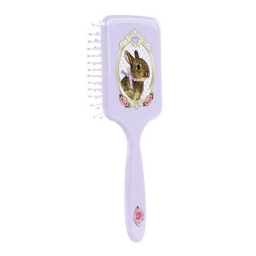 Kartáč na vlasy Animal Love fialový, králíček