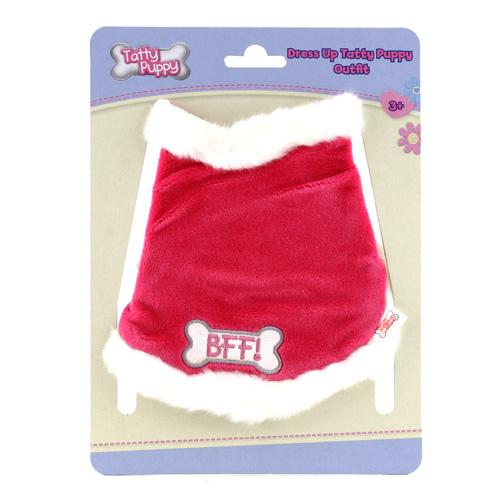 Outfit Tatty Puppy Me to You kabátek s kožešinkou růžový