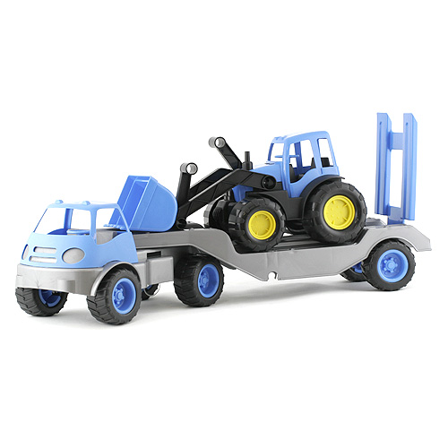 Návěs s buldozerem Bino modrý