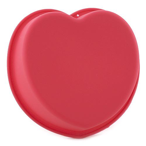 Pečící forma Smart Cook silikonová červená, srdce