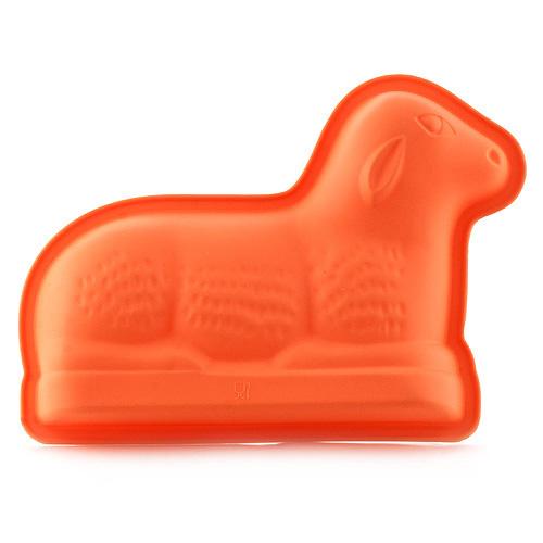 Pečící forma Smart cook silikonová oranžová beránek