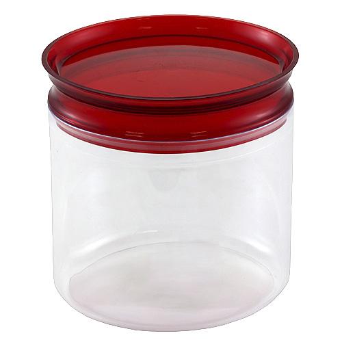 Dóza s uzávěrem Smart Cook plastová oválná červená