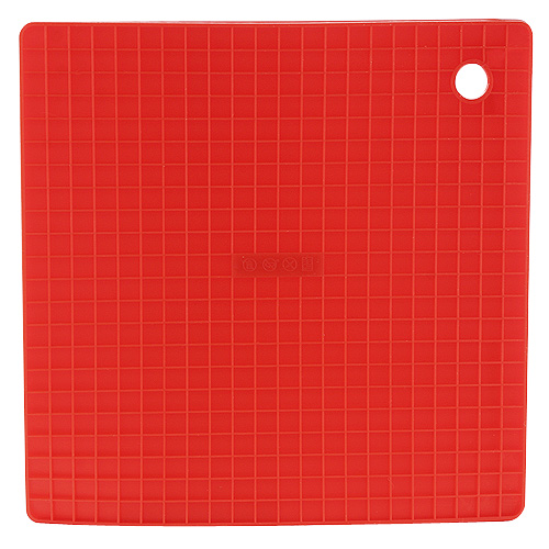 Smart Cook Podložka silikonová červená 16x16cm