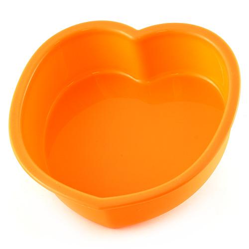 Pečící forma Smart Cook silikonová oranžová, srdce