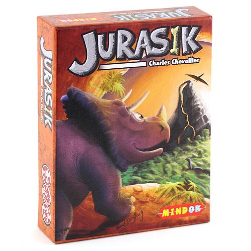 Jurasik Mindok karetní hra o dinosaurech pro 2-4 hráče