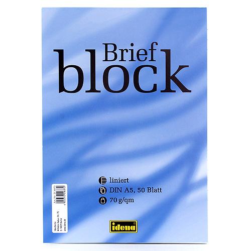 Poznámkový blok Idena linkovaný, bílý
