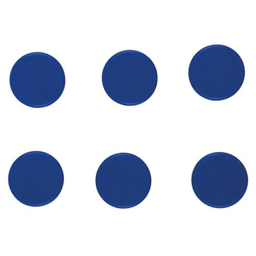 Magnet 6ks Idena modrý, 24mm