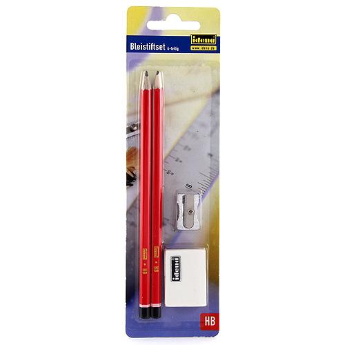 Tužky Idena 2xgrafitová tužka, 1xořezávátko, 1xguma