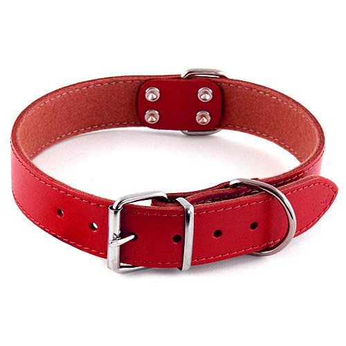 B & F Obojek kožený 3,0x65cm červený