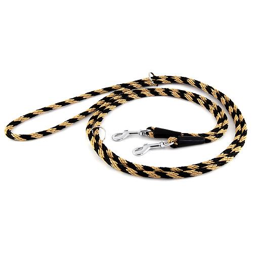 B & F Vodítko přepínací 2,4m 1,0x240cm černo-béžové lano
