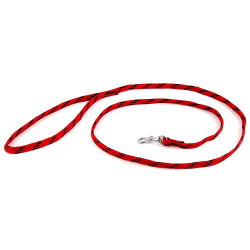 B & F Vodítko nylonové 1,0x130cm červeno-černé