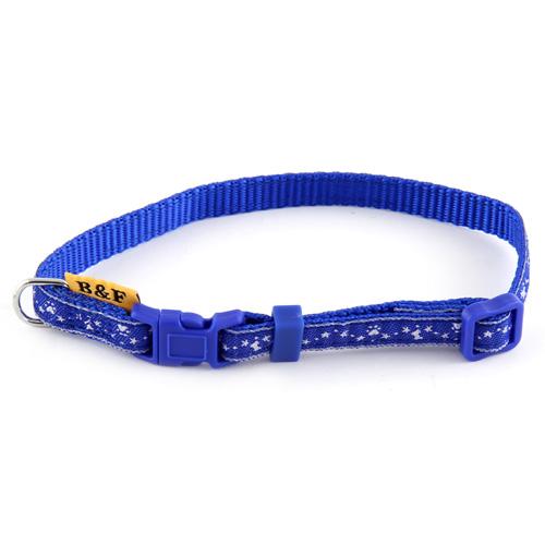 B & F Obojek popruhový 1,0x26-35cm modrý hvězdičky