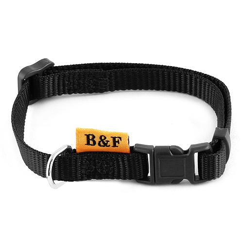 B & F Obojek popruhový 1,0x26-35cm černý