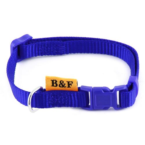 B & F Obojek popruhový 1,0x26-35cm modrý