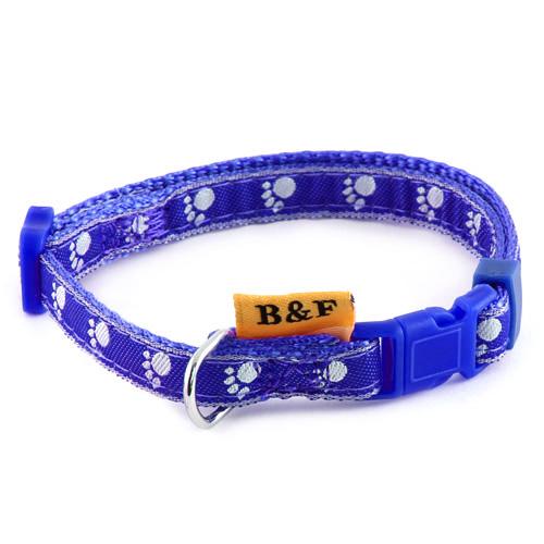 B & F Obojek popruhový 1,0x26-36cm modrý tlapky