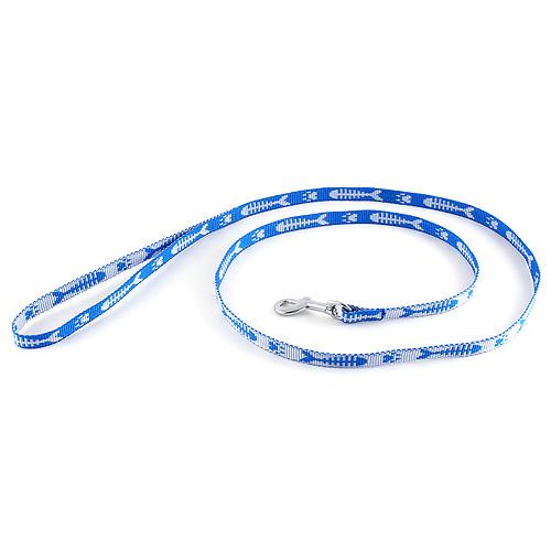 B & F Vodítko popruhové 1,2m 1,0x120cm modré ryba