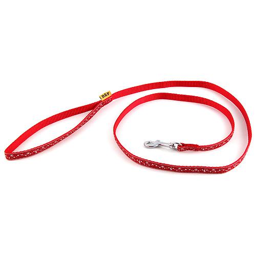 B & F Vodítko popruhové 1,2m 1,0x120cm červené hvězdičky