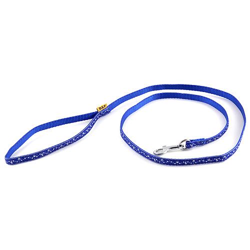 B & F Vodítko popruhové 1,2m 1,0x120cm modré hvězdičky
